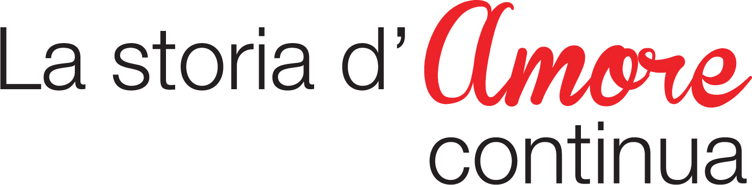 Slogan Conad con scritta la Storia d'amore continua, Amore è scritto in rosso